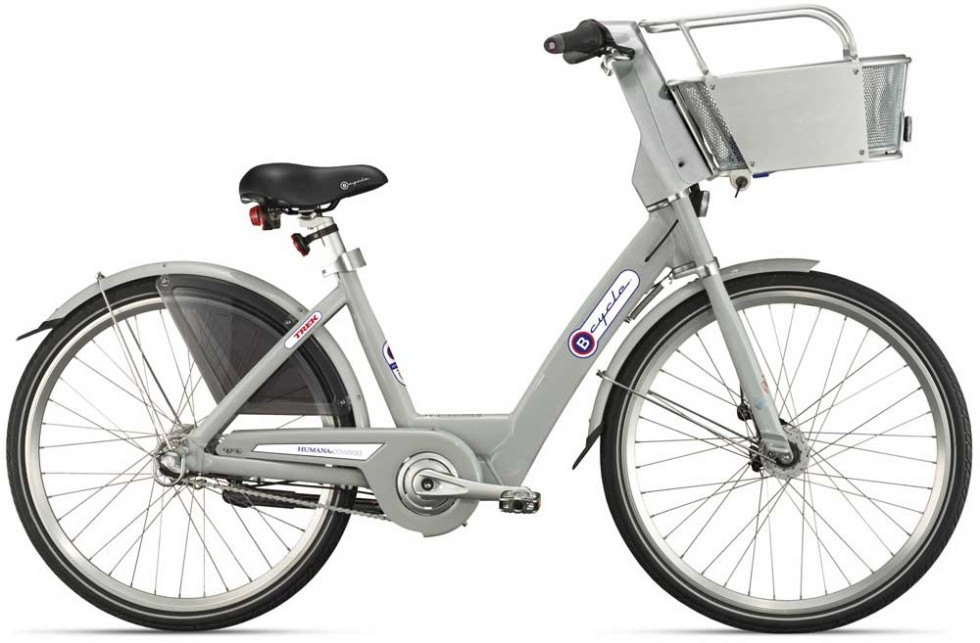 Photo of a B-cycle bike